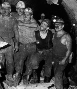 Hungrige Bergleute
